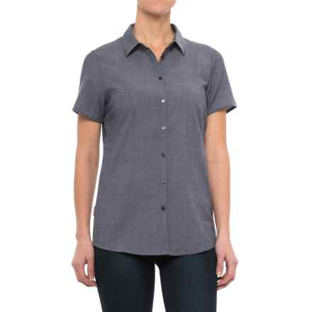 Icebreaker Kala Shirt - Merino Wool, Short Sleeve (For Women) in Fathom Heather/Jet Heather - Closeouts