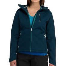 Icebreaker Kenai RF260 Hooded Jacket - UPF 50+, Merino Wool, Soft Shell (For Women) in Eclipse - Closeouts