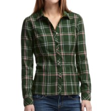 Icebreaker Laurel Plaid Shirt - UPF 30+, Merino Wool, Long Sleeve (For Women) in Conifer/Tearose - Closeouts