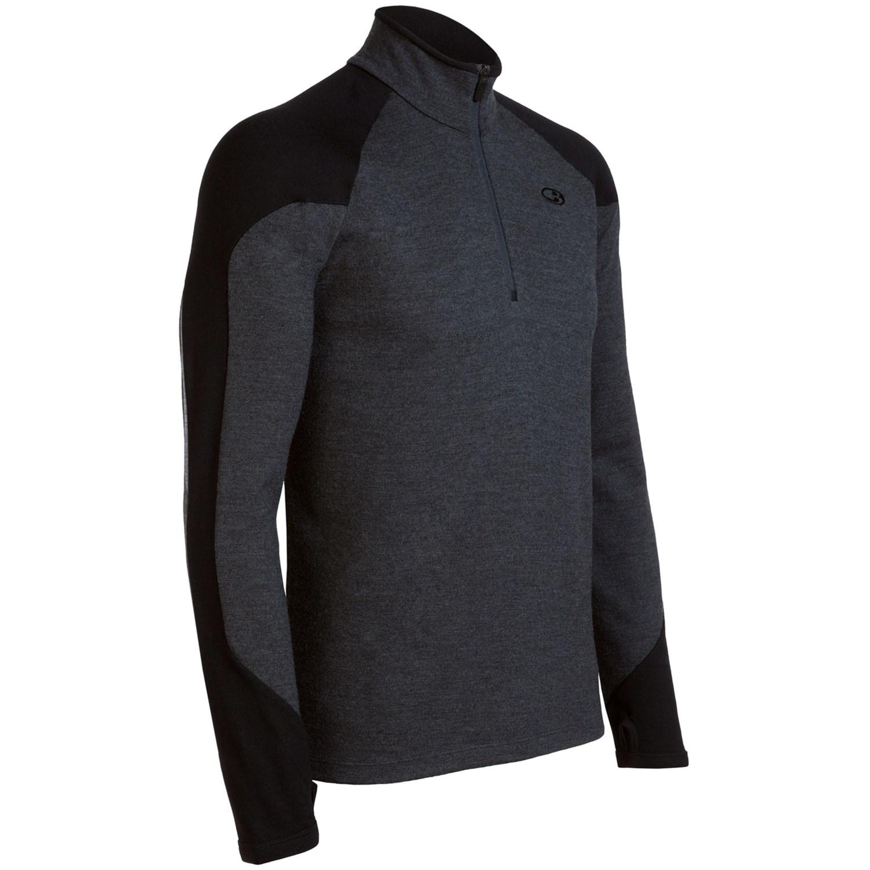 Icebreaker legion 320 zip neck shirt merino wool for Merino wool shirt long sleeve