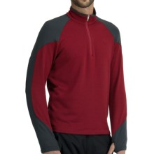 Icebreaker Legion 320 Zip Neck Shirt - Merino Wool, Heavyweight, Long Sleeve (For Men) in Mars/Monsoon - Closeouts