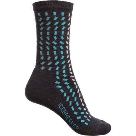 787502e4c3 Icebreaker Lifestyle Light Rectangle River Socks - Merino Wool, Crew (For  Women) in