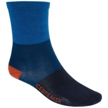 Icebreaker Lifestyle Ultralite Rugby Strip Socks - Merino Wool, Crew (For Men) in Cadet - 2nds