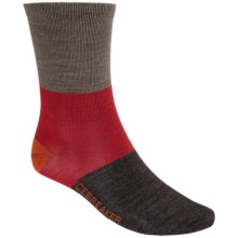 Icebreaker Lifestyle Ultralite Rugby Strip Socks - Merino Wool, Crew (For Men) in Trail Heather - 2nds