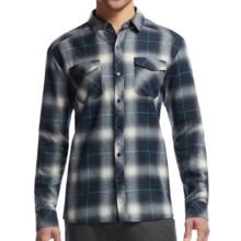 Icebreaker Lodge Flannel Shirt - UPF 30+, Merino Wool, Long Sleeve (For Men) in Admiral/Aquamarine - Closeouts