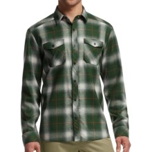 Icebreaker Lodge Flannel Shirt - UPF 30+, Merino Wool, Long Sleeve (For Men) in Conifer/Spark - Closeouts