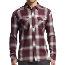 Icebreaker Lodge Flannel Shirt - UPF 30+, Merino Wool, Long Sleeve (For Men) in Redwood/Awesome - Closeouts