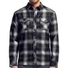 Icebreaker Lodge Plaid Shirt - Merino Wool, UPF 30+, Long Sleeve (For Men) in Black - Closeouts