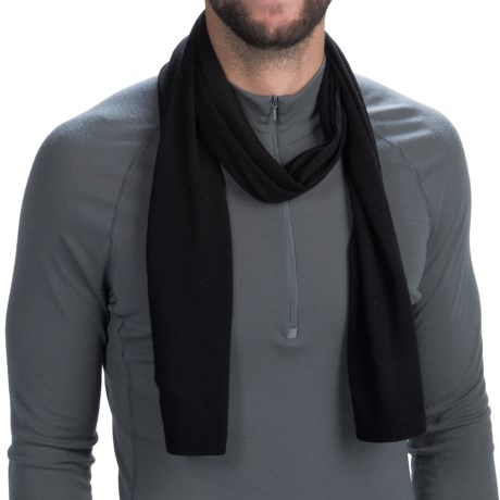 Icebreaker Mayfair Scarf - Merino Wool (For Men and Women) in Black