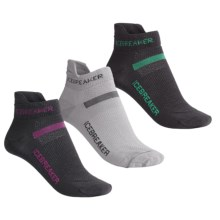 Icebreaker Merino Wool Ultralite Micro Sport Sock Grab Bag - 3-Pack, Below-the-Ankle (For Women) in Asst - 2nds