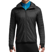 Icebreaker MerinoLOFT Helix Hooded Jacket - Merino Wool, Insulated (For Men) in Black/Black - Closeouts