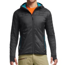 Icebreaker MerinoLOFT Helix Hooded Jacket - Merino Wool, Insulated (For Men) in Carbon/Alpine - Closeouts