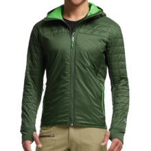 Icebreaker MerinoLOFT Helix Hooded Jacket - Merino Wool, Insulated (For Men) in Conifer/Balsam - Closeouts
