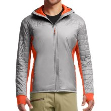 Icebreaker MerinoLOFT Helix Hooded Jacket - Merino Wool, Insulated (For Men) in Fossil/Spark - Closeouts