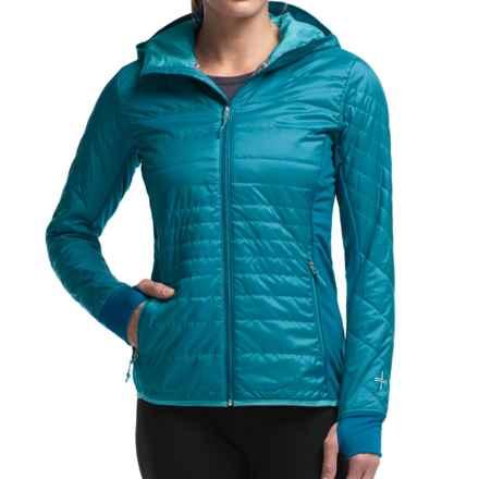 Icebreaker MerinoLOFT Helix Hooded Jacket - Merino Wool, Insulated (For Women) in Alpine/Aquamarine/Aquamarine - Closeouts