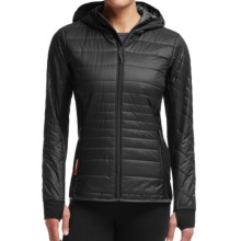 Icebreaker MerinoLOFT Helix Hooded Jacket - Merino Wool, Insulated (For Women) in Black/Monsoon/Monsoon - Closeouts