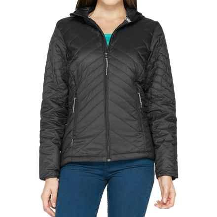 Icebreaker MerinoLOFT Helix Hooded Jacket - Merino Wool, Insulated (For Women) in Black - Closeouts