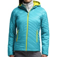 Icebreaker MerinoLOFT Helix Hooded Jacket - Merino Wool, Insulated (For Women) in Glacier - Closeouts