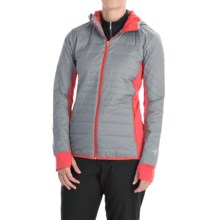 Icebreaker MerinoLOFT Helix Hooded Jacket - Merino Wool, Insulated (For Women) in Mineral/Grapefruit/Cameo - Closeouts