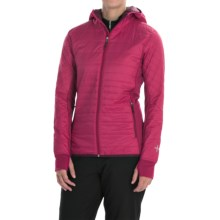 Icebreaker MerinoLOFT Helix Hooded Jacket - Merino Wool, Insulated (For Women) in Raspberry/Maroon/Maroon - Closeouts