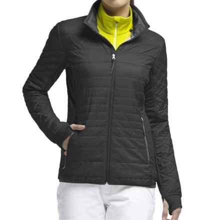 Icebreaker MerinoLOFT Helix Jacket - Merino Wool, Insulated (For Women) in Black/Monsoon/Black - Closeouts
