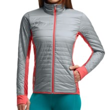 Icebreaker MerinoLOFT Helix Jacket - Merino Wool, Insulated (For Women) in Mineral/Grapefruit/Grapefruit - Closeouts
