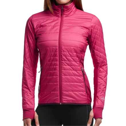Icebreaker MerinoLOFT Helix Jacket - Merino Wool, Insulated (For Women) in Raspberry/Maroon/Maroon - Closeouts