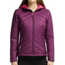 Icebreaker MerinoLOFT Stratus Hooded Jacket - Merino Wool, Insulated (For Women) in Maroon/Raspberry/Raspberry - Closeouts