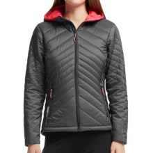Icebreaker MerinoLOFT Stratus Hooded Jacket - Merino Wool, Insulated (For Women) in Monsoon/Grapefruit/Grapefruit - Closeouts