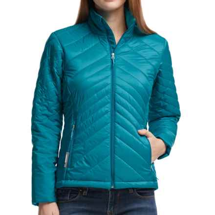Icebreaker MerinoLOFT Stratus Jacket - Merino Wool, Insulated  (For Women) in Alpine/Aquamarine/Alpine - Closeouts