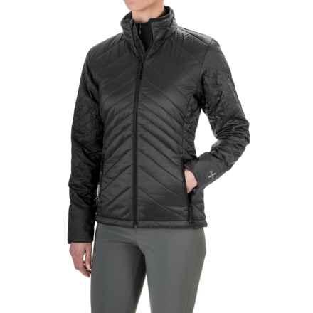 Icebreaker MerinoLOFT Stratus Jacket - Merino Wool, Insulated  (For Women) in Black/Monsoon/Black - Closeouts