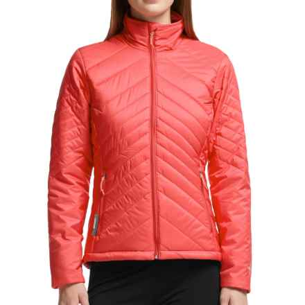 Icebreaker MerinoLOFT Stratus Jacket - Merino Wool, Insulated  (For Women) in Grapefruit/Cameo/Grapefruit - Closeouts