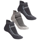 Icebreaker Micro-Sport Bike Sock Grab Bag - 3-Pack, Merino Wool, Below-the-Ankle (For Women)