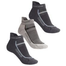 Icebreaker Micro-Sport Bike Sock Grab Bag - 3-Pack, Merino Wool, Below-the-Ankle (For Women) in Asst - 2nds