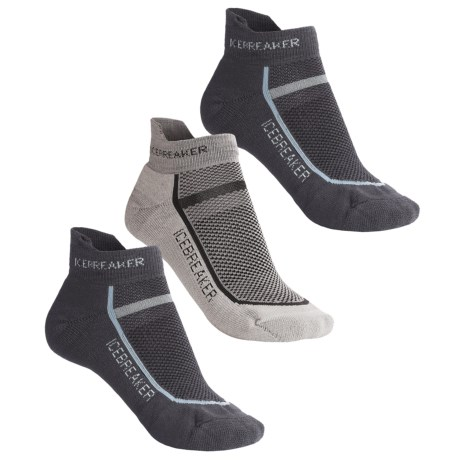 Icebreaker Micro-Sport Bike Sock Grab Bag - 3-Pack, Merino Wool, Below-the-Ankle (For Women) in Asst