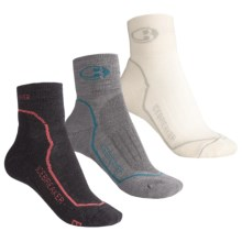 Icebreaker Mini Bike/Run Sock Grab Bag - 3-Pack, Merino Wool, Quarter-Crew (For Women) in Asst - 2nds