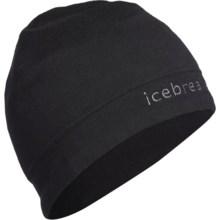 Icebreaker Mogul Beanie Hat - Merino Wool (For Men and Women) in Black/Monsoon - Closeouts
