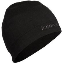 Icebreaker Mogul Beanie Hat - Merino Wool (For Men and Women) in Black/Pewter - Closeouts