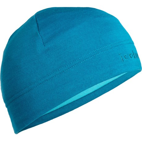 Icebreaker Mogul Beanie Hat - Merino Wool (For Men and Women) in Cruise/Glacier