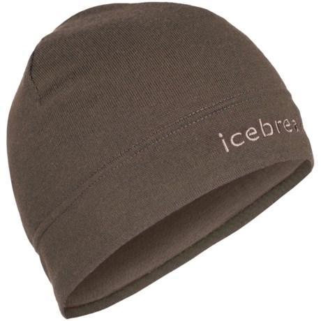 Icebreaker Mogul Beanie Hat - Merino Wool (For Men and Women) in Trail