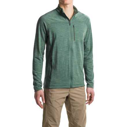 Icebreaker Mt. Elliot RealFLEECE® Jacket - Merino Wool, Full Zip (For Men) in Coriander Heather/Coriander Heather/Canoe - Closeouts