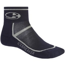 Icebreaker Multi-Sport Lite Mini Socks - Merino Wool, Quarter-Crew (For Men) in Ink/Silver/Ink - Closeouts