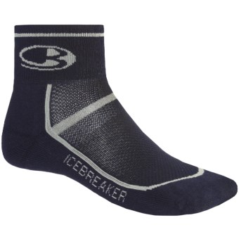 Icebreaker Multi-Sport Lite Mini Socks - Merino Wool, Quarter-Crew (For Men) in Ink/Silver/Ink