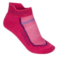 Icebreaker Multisport Light Micro Socks - Merino Wool, Light Cushion, Below-the-Ankle (For Women) in Cherub/Emperor - 2nds