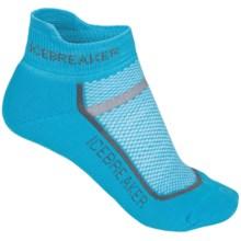 Icebreaker Multisport Light Micro Socks - Merino Wool, Light Cushion, Below-the-Ankle (For Women) in Glacier/Jet Heather - 2nds