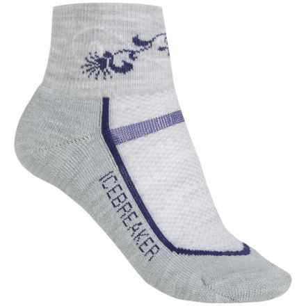 Icebreaker Multisport Light Mini Socks - Merino Wool, Ankle (For Women) in Blizzard/Horizon - 2nds