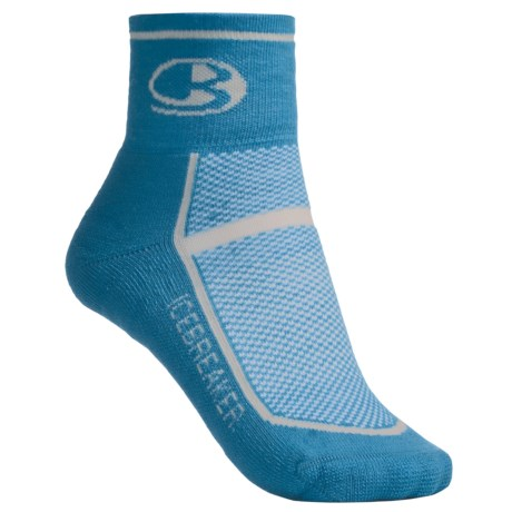 Icebreaker Multisport Lite Mini Socks - Merino Wool (For Women) in Bone/Poppy/Bone