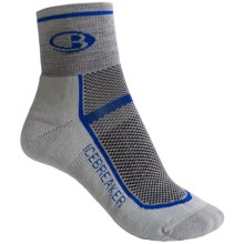 Icebreaker Multisport Lite Mini Socks - Merino Wool (For Women) in G38 Silver/Odessa/Silver - 2nds
