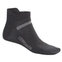 Icebreaker Multisport Superlite Micro Socks - Merino Wool, Lightweight, Below-the-Ankle (For Men) in Oil - Closeouts