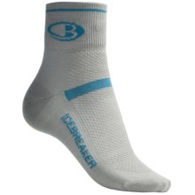 Icebreaker Multisport Superlite Mini Socks - Merino Wool, Quarter-Crew (For Women) in Silver - 2nds